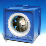 Fantech FSD26 Inline Square Centrifugal Fan, Galvanized Steel Housing 6993 CFM