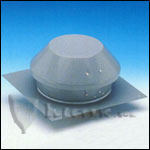 Fantech REC6 Roof Exhauster Attic Ventilation, Base for Installation with Curb 227 CFM