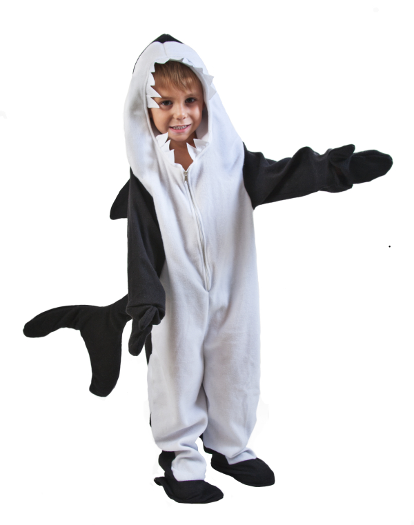 Toddler Black Fish Killer Whale Costume