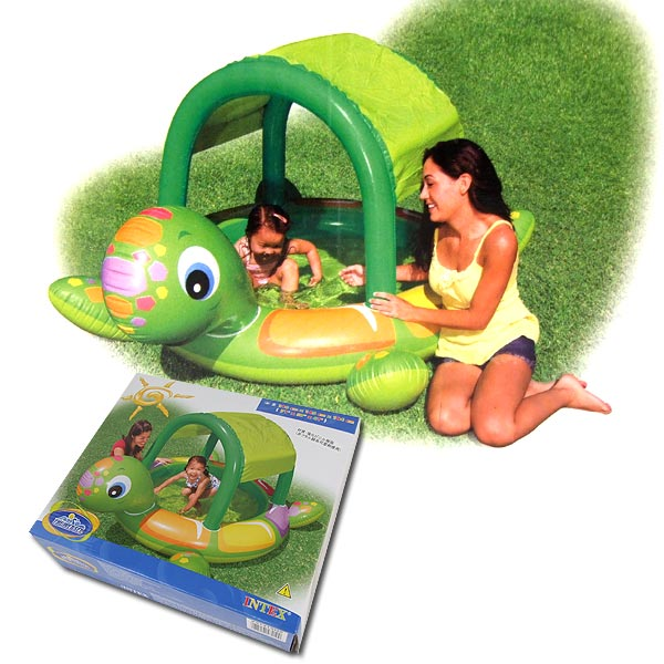 Intex Inflatable Baby Pool Turtle with Sunshade