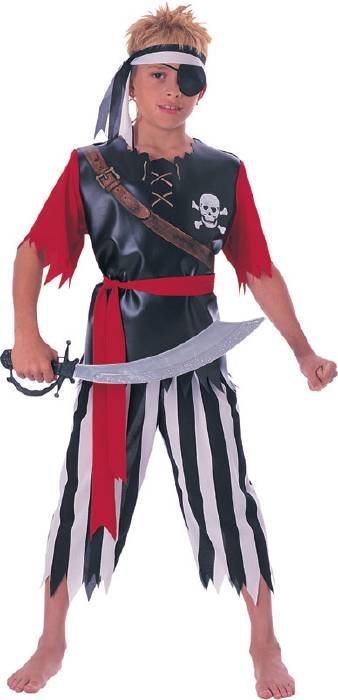 Child's Captain Skully Pirate Costume