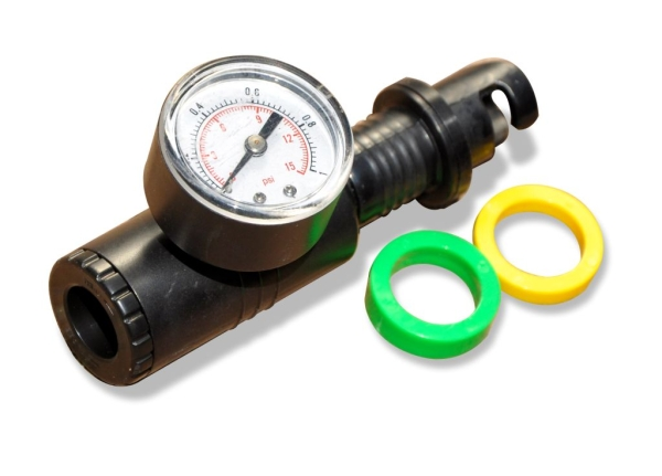 High Pressure Universal Adaptor with Gauge