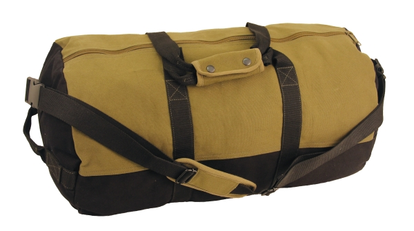 "Duffel Bag, 30"" x 18"" Two Tone (Colors: Black With Olive)"
