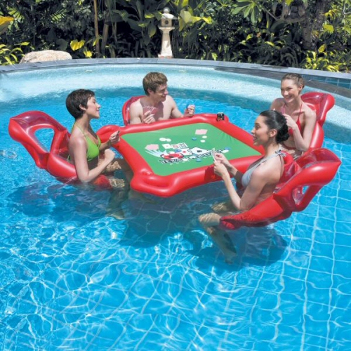 Texas Hold 'Em Floating Poker Lounge Set