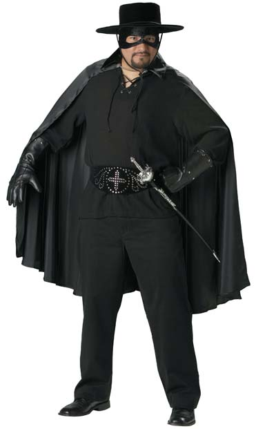 Adult Plus Size Zorro Costume