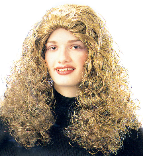 Adult Long Blonde Curly Wig