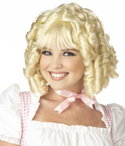 Woman's Blonde Miss Muffet Costume Wig