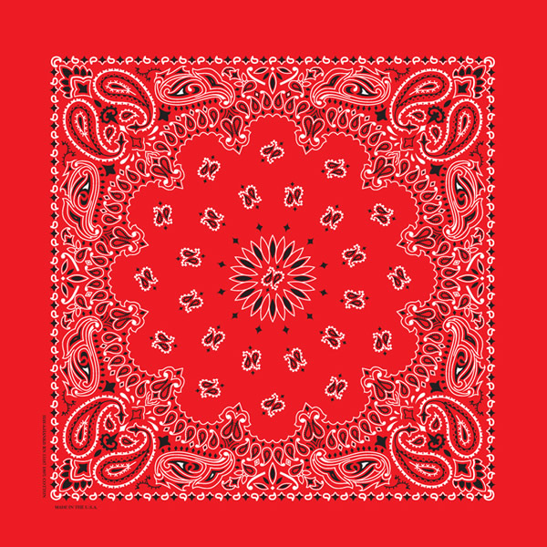 Insect Shield Fire Engine Red Bandanas