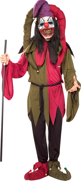 Adult Scary Clown Jester Costume