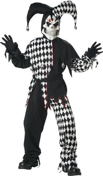 Child's Evil Jester Costume