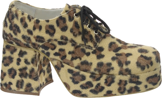 Men's Leopard Platform Shoes
