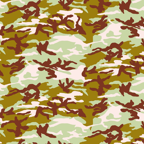 Pink and Green Woodland Camo Bandanas