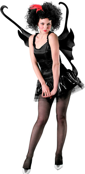 Adult Black Gothic Costume Wings