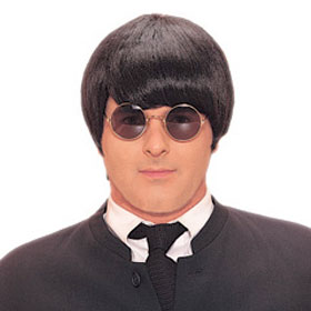 Adult Black Beatles Mod Wig