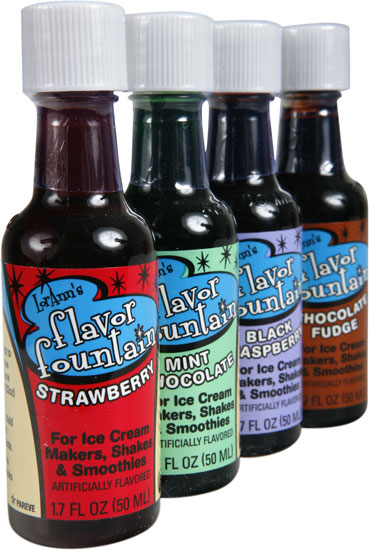 Four Pack of Flavor Fountain Ice Cream Syrup