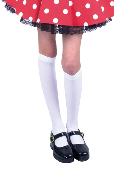 Girl's White Knee High Leggings