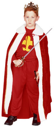 Child's Red King Robe Costume