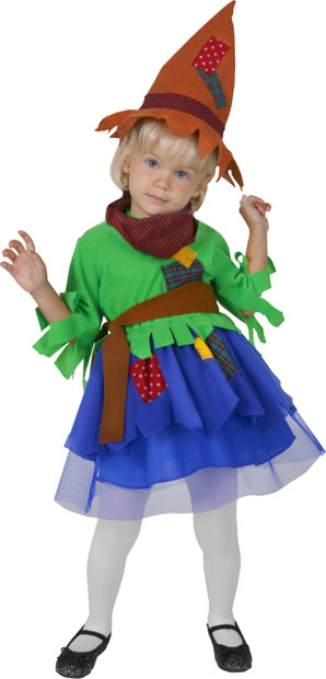 Girl's Toddler Scarecrow Costume