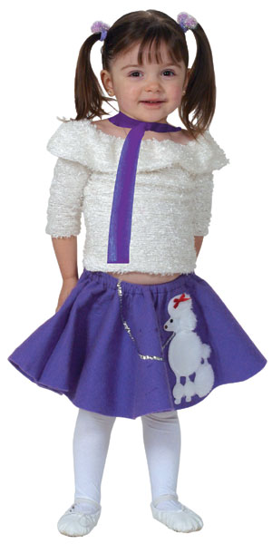 Toddler Purple Poodle Skirt Costume