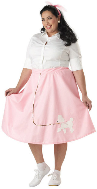 Plus Size Pink Poodle Skirt