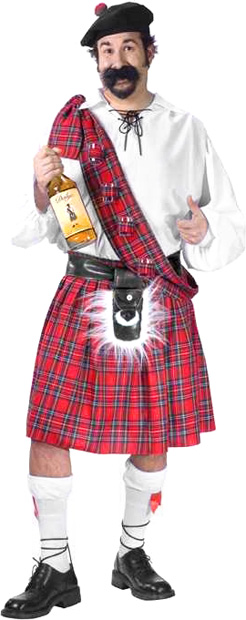 Plus Size Big Shot Scottish Costume