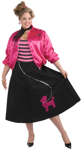 Plus Size Pink Poodle Skirt Costume