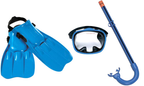 Child's Master Class Swim Mask, Snorkel, and Fins Set