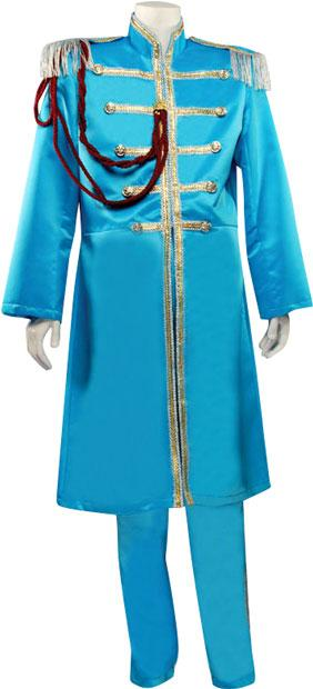 Adult Deluxe Blue Sgt. Pepper Plus Size Costume