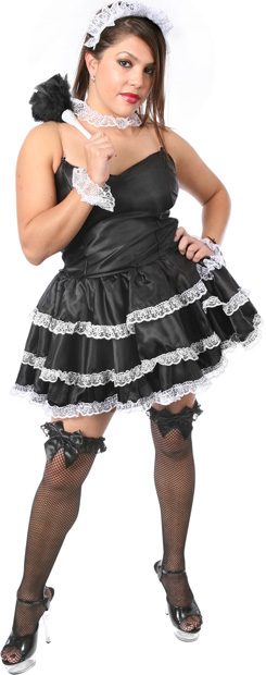 Plus Size Sexy Lacey French Maid Costume