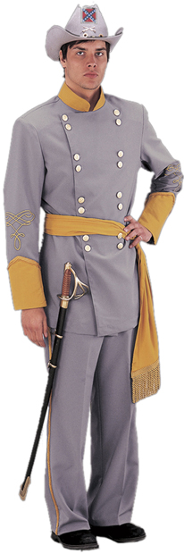 Adult Authentic Confederate Officer Civil War Costume