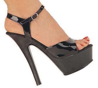 "Sexy Black 6"" High Heel Costume Shoes"