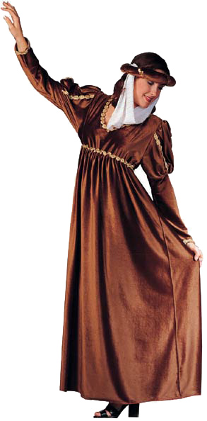Adult Brown Renaissance Queen Costume