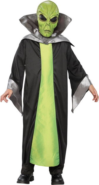 Child's Green Alien Costume