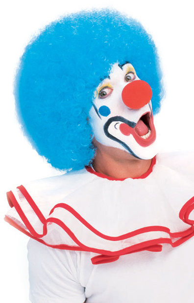 Adult Blue Afro Clown Wig