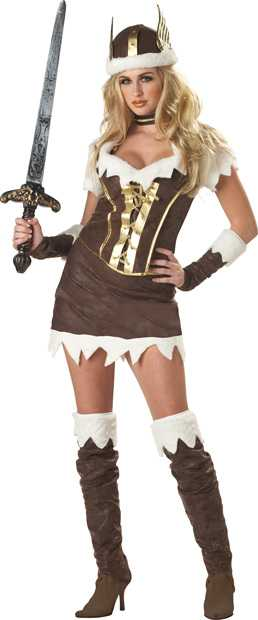 Woman's Sexy Viking Vixen Costume