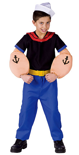 Child's Popeye the Sailor Costume