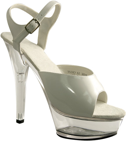 Sexy High Heel White Platform Shoes