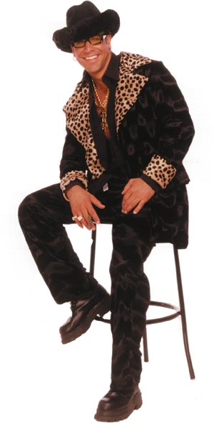Cheetah Fur Pimp Daddy Costume