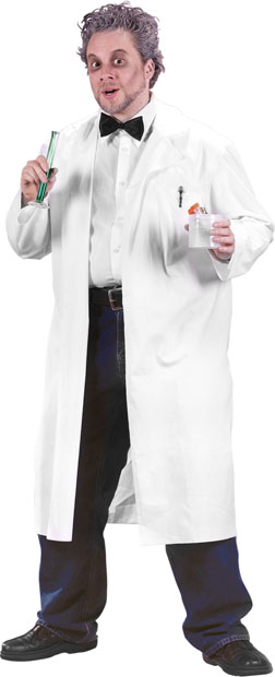 Adult Nutty Professor Lab Coat Costume College Professor