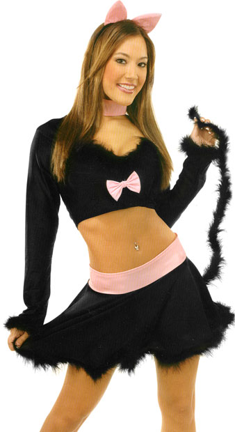 Sexy Black Kitty Cat Costume