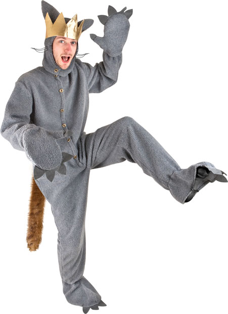adult where the wild things are max costume wolf suit monster costumes. Black Bedroom Furniture Sets. Home Design Ideas