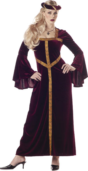 Adult Burgundy Guinevere Costume