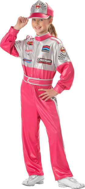 Childu0027s Race Car Driver Girl Costume  sc 1 st  Brands On Sale & Childu0027s Race Car Driver Girl Costume | Race Car Driver Costumes ...