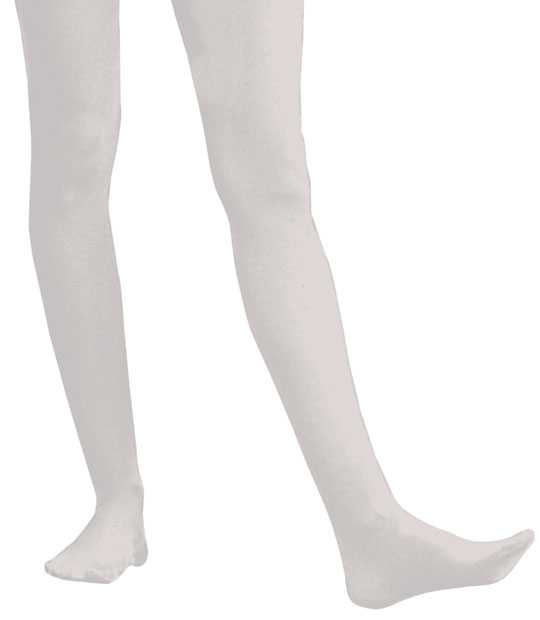 d329b9f1a Adult Solid White Nylon Tights
