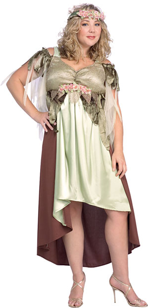 Womens Plus Size Nymph Fairy Costume Woodland Fairy Costumes