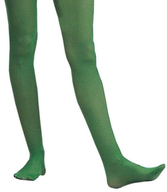 Adult Solid Green Nylon Tights