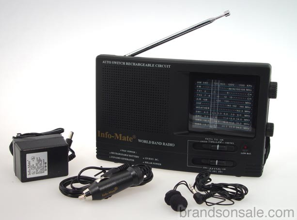 Solar Powered World Band Radio