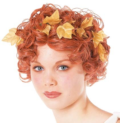 Short & Curly Goddess Wig with Laurel Leaves