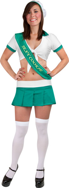 Teen Green Sexy Girl Scout Costume