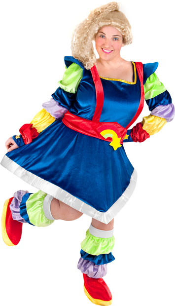 Plus Size Magic Rainbow Diva Costume  sc 1 st  Brands On Sale & Plus Size Magic Rainbow Diva Costume | Rainbow Brite Costumes ...